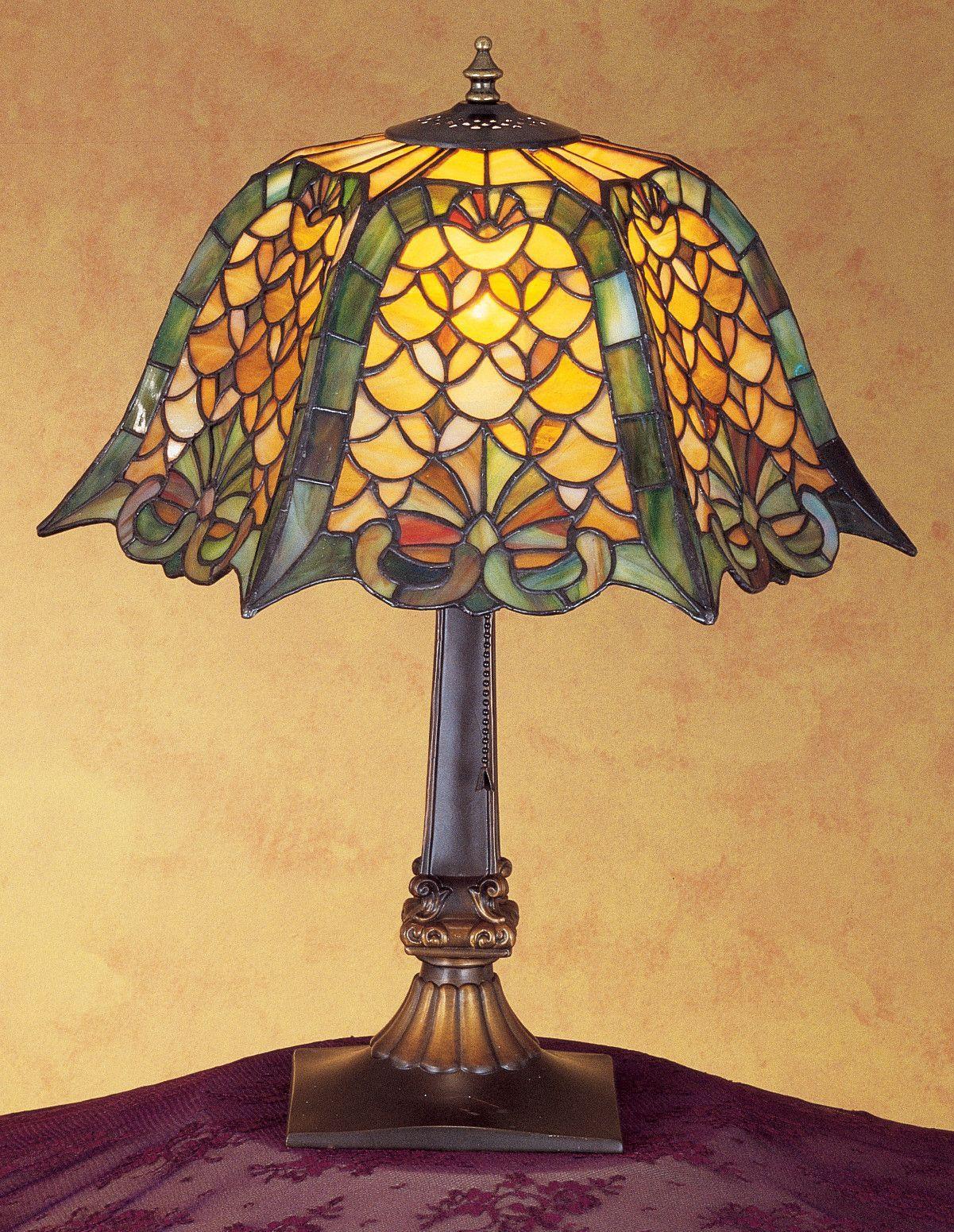 Meyda 19 5 H D K Shell Diamond Table Lamp Table Lamp Tiffany Table Lamps Lamp