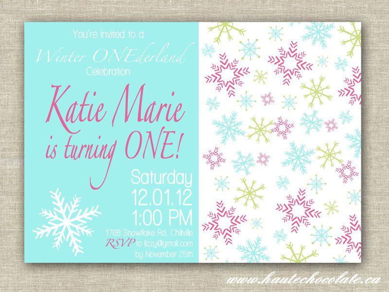 Winter Onederland Birthday Invitation. Winter Wonderland Birthday ...
