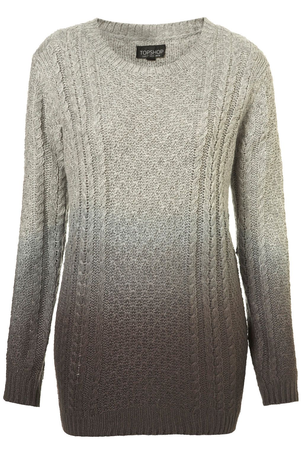 subtle ombre cable sweater : Topshop | ::: S T Y L E ...
