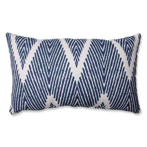 Pillow Perfect Bali Navy Rectangular Throw Pillow Blue Throw