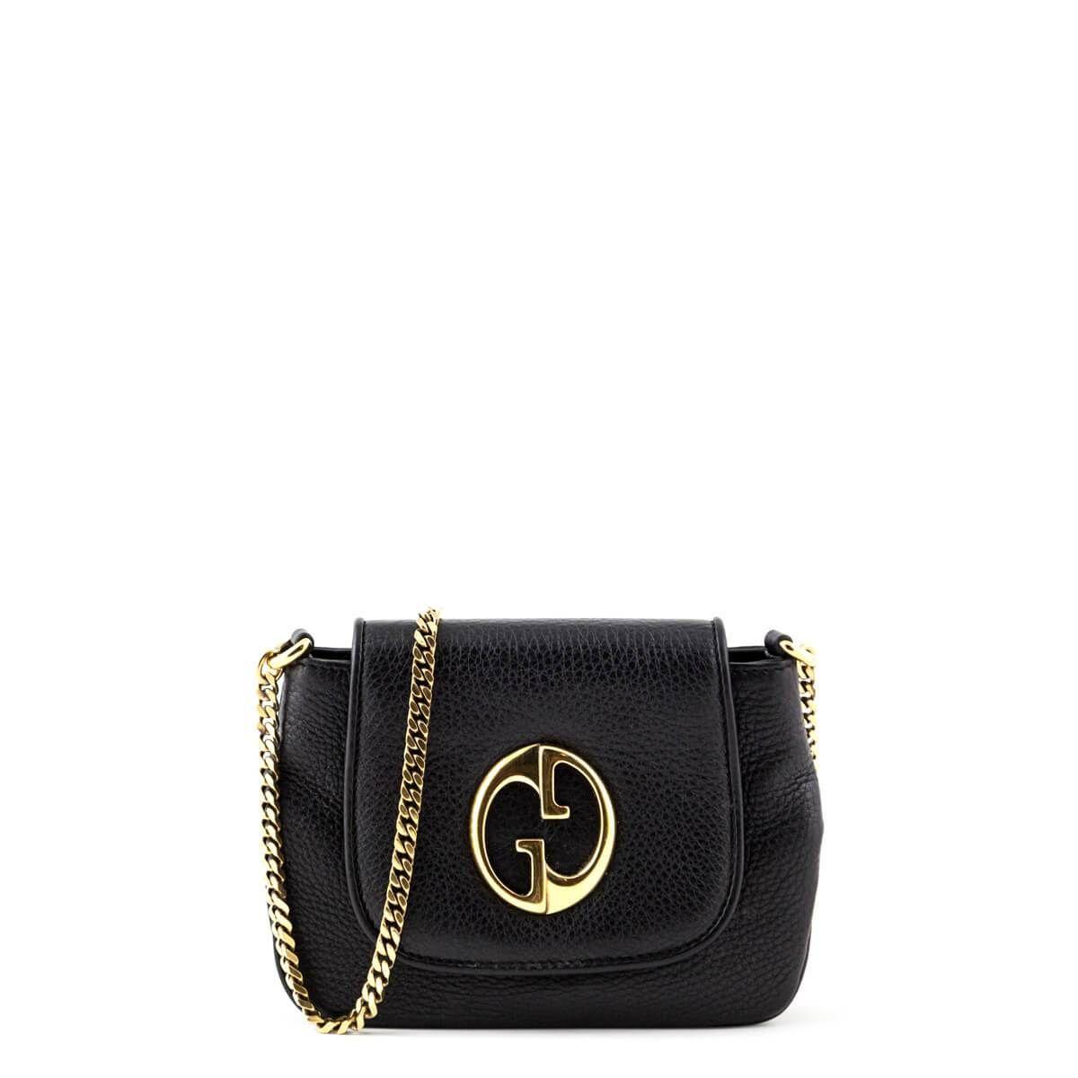 Gucci Black Mini 1973 Shoulder Bag Secondhand Designer Handbags Gucci Black Black Mini Shoulder Bag
