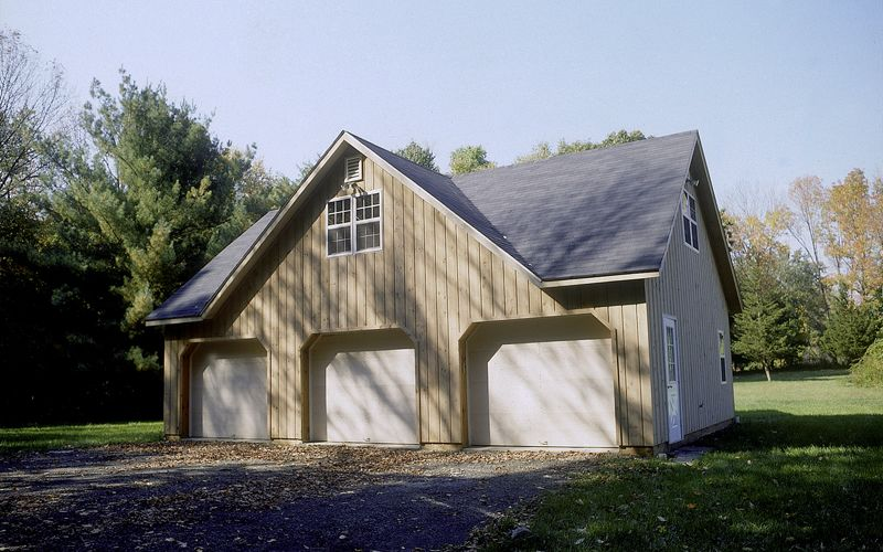24 X36 3 Bay Garage Pole Building With A Full Loft Full Gable Dormer On Both Sides 8 12 Pitch Roof Pole Barn House Plans Garage Design Barn House Plans