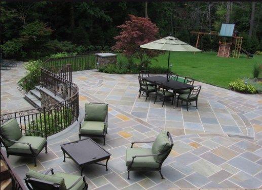 Full Color Bluestone Patio Patio Cipriano Landscape Design Mahwah, NJ