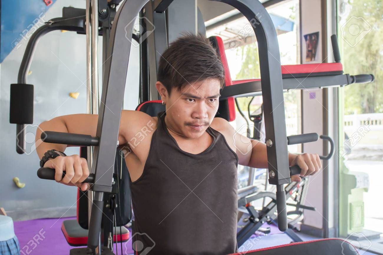 Young man in fitness , #AFF, #Young, #man, #fitness