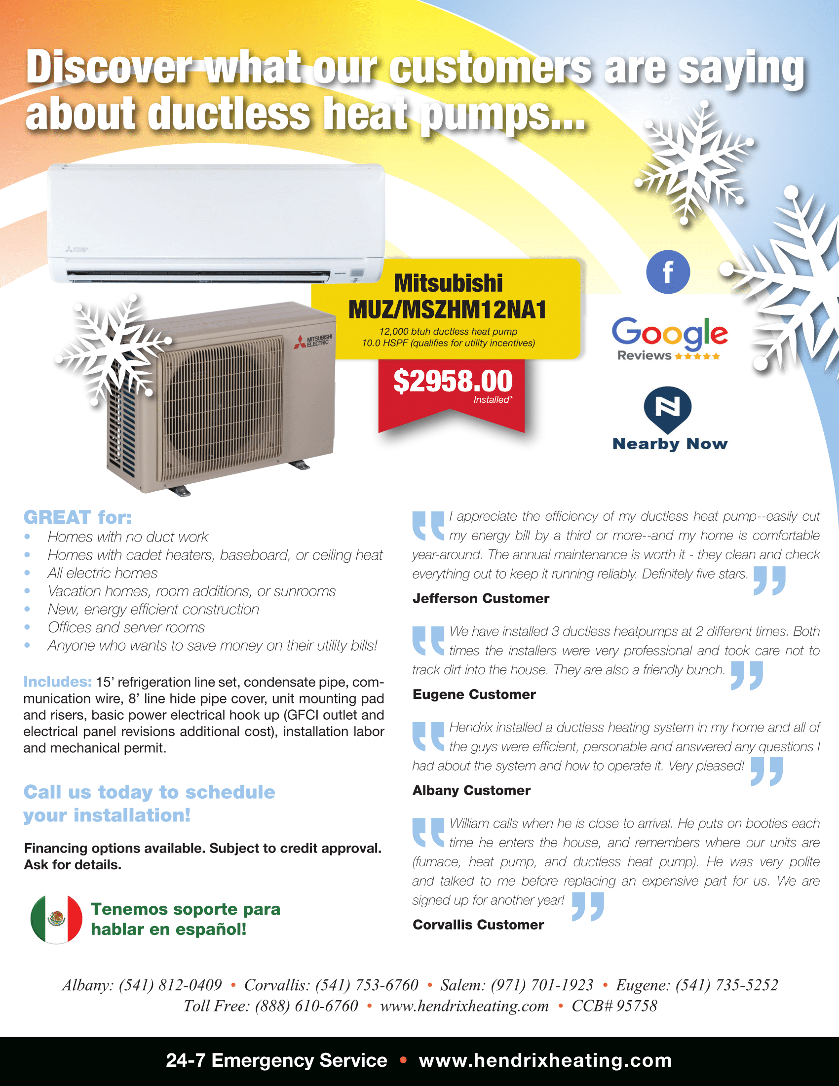 Specials Coupons Heating And Air Conditioning Duct Work Ductless Heat Pump