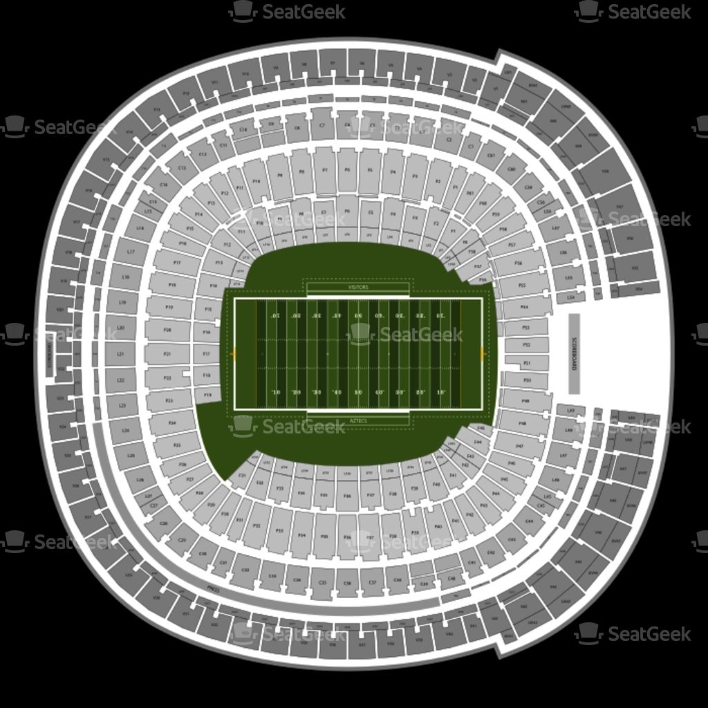 Qualcomm Stadium Seating Chart With Seat Numbers In 2020 Seating Charts Qualcomm Stadium Stadium