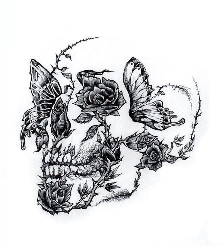 Schädel-Tattoos Tätowierung-Ideen