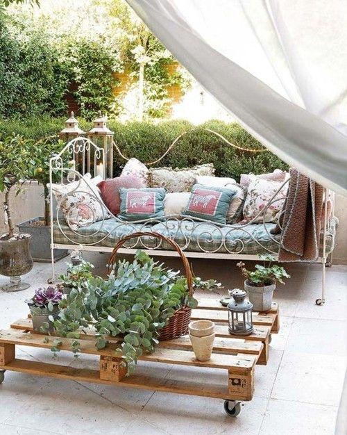 espacios   Rustico....campo y jardín   Pinterest   Pallets garden ...