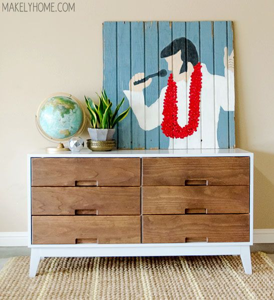 How To Make A Midcentury Modern Inspired Two Tone Dresser Makely Diy Furniture Plans Diy Furniture Projects Diy Furniture