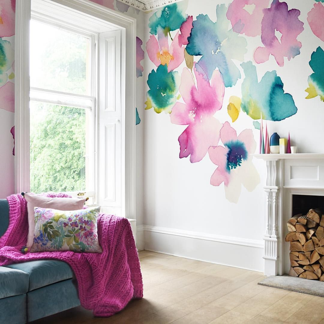 1 193 Likes 58 Comments Bluebellgray On Instagram Hello New Collection We Are Officially Giving Our Ne Mural Wallpaper Wall Design Wall Painting