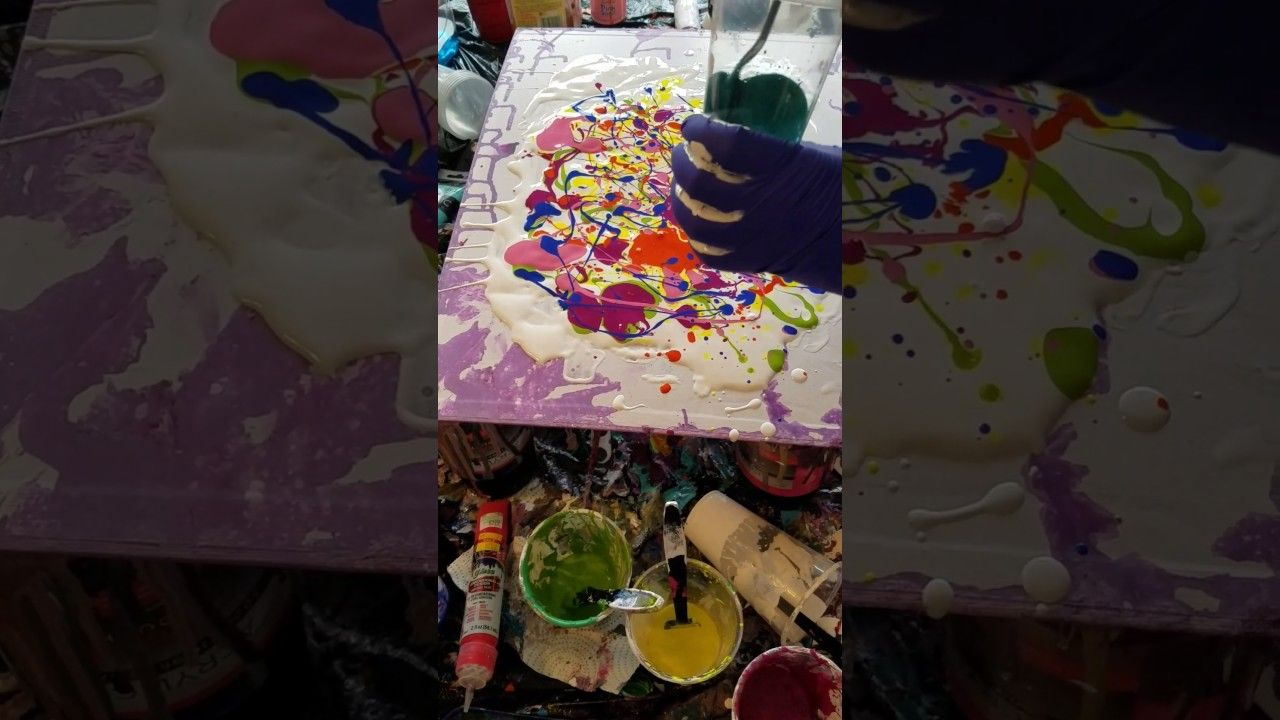 Acrylic impression painting dipping acrylic wall art