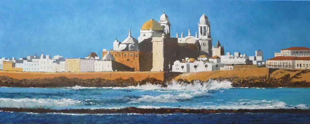Cuadros Al Oleo De Paisajes Y Marinas De Andalucía Rubén De Luis Paisajes Pintura Al Oleo Paisajes Cádiz