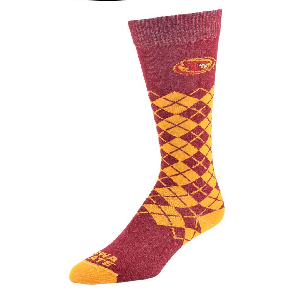 Women's Mojo Iowa State Cyclones Argyle Socks, Size: 9-11, Brt Red