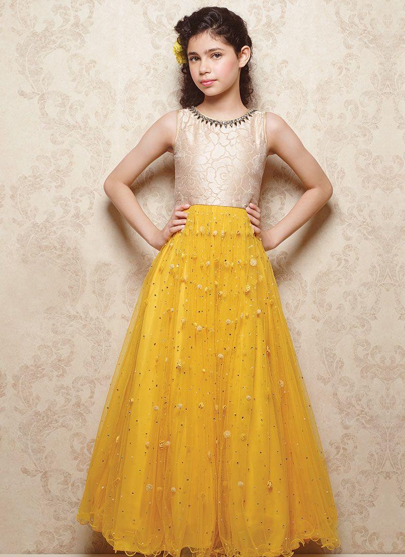 e07d66e2fad94 Doll Embellished Net Kids Gown | Clothes | Kids gown, Kids dress ...
