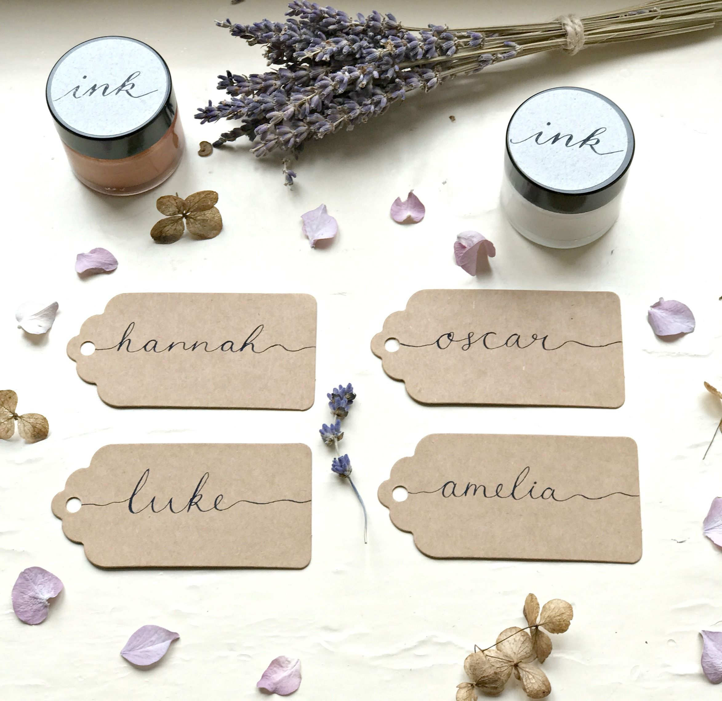 Name Tag, Place Card, Wedding Card, Handwritten Wedding Favour Tags ...