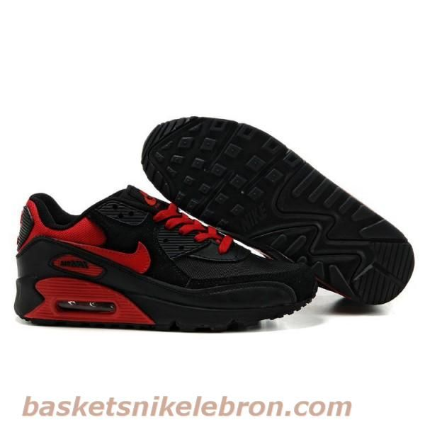 en soldes 5eccb 3070b Pas cher Air Max Femme Noir Rouge Chaussure Nike Air Max 90 ...