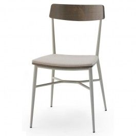 Beaufurn Lotus P Side Chair The Unique Combination Of Metal Frame,  Upholstered Seat And Wood