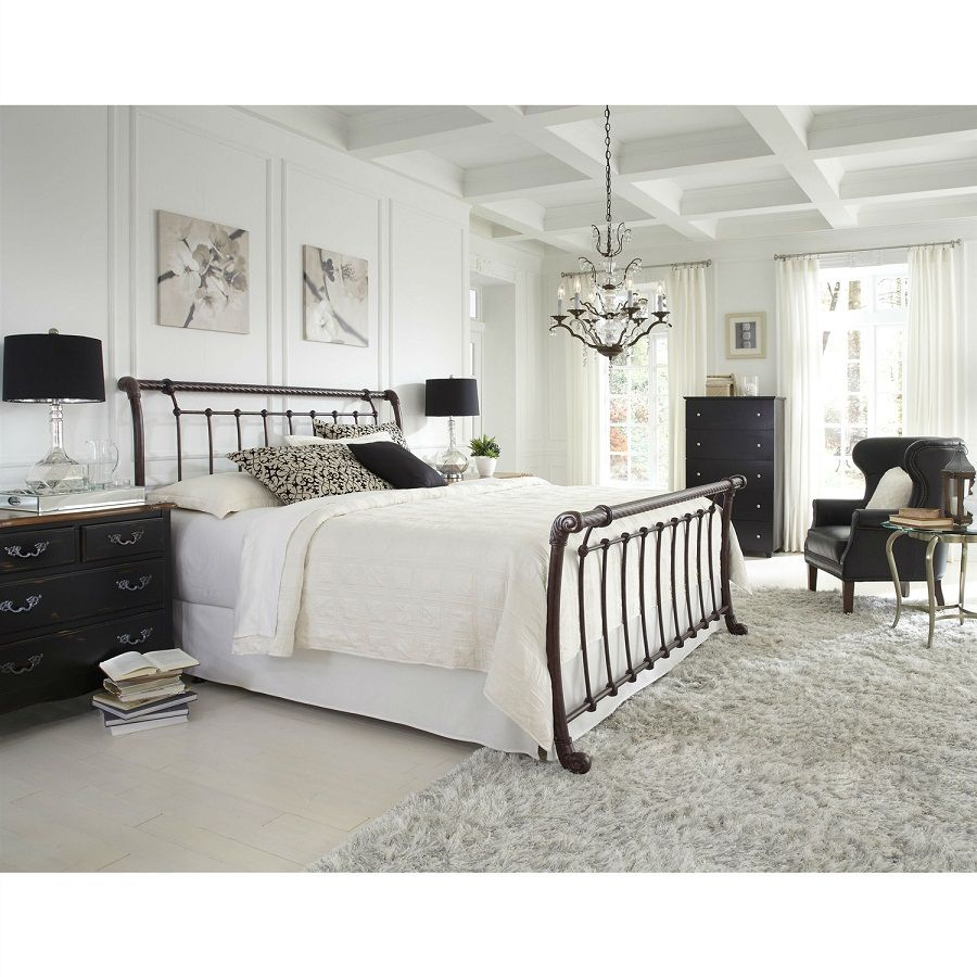 12 Amazing Designs Iron Sleigh Bed All King