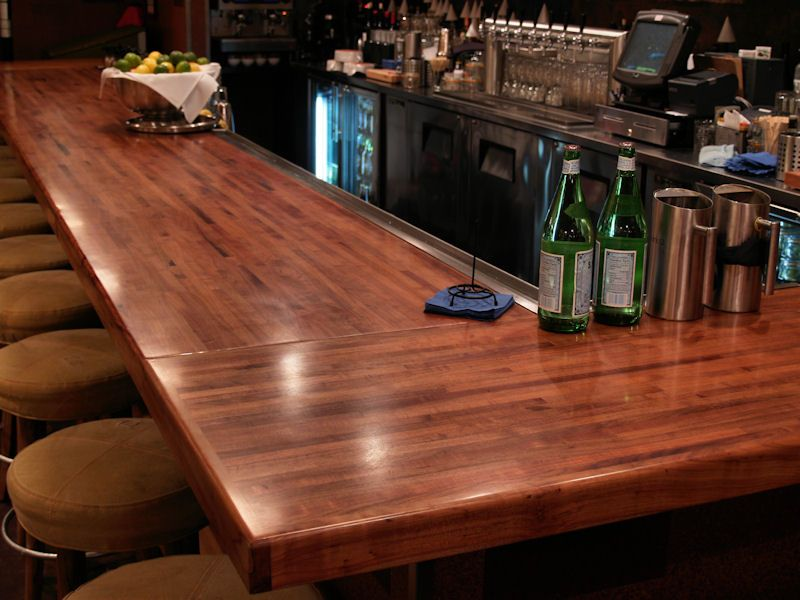 Good Butcher Block Bar Top Part - 1: Photo Gallery Of Mesquite Wood Countertops, Butcher Block Countertops, Wood Bar  Tops, Wood Table Tops, And Custom Wood Tables Are All Made By DeVos Custom  ...