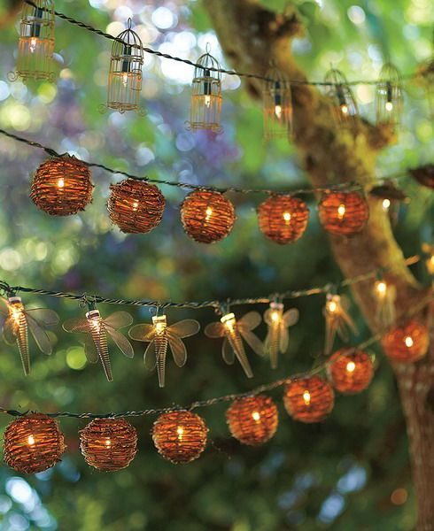 Love the dragonflies great for balcony too outdoor party lighting wire dragonfly string lights eclectic outdoor lighting love these mozeypictures Choice Image
