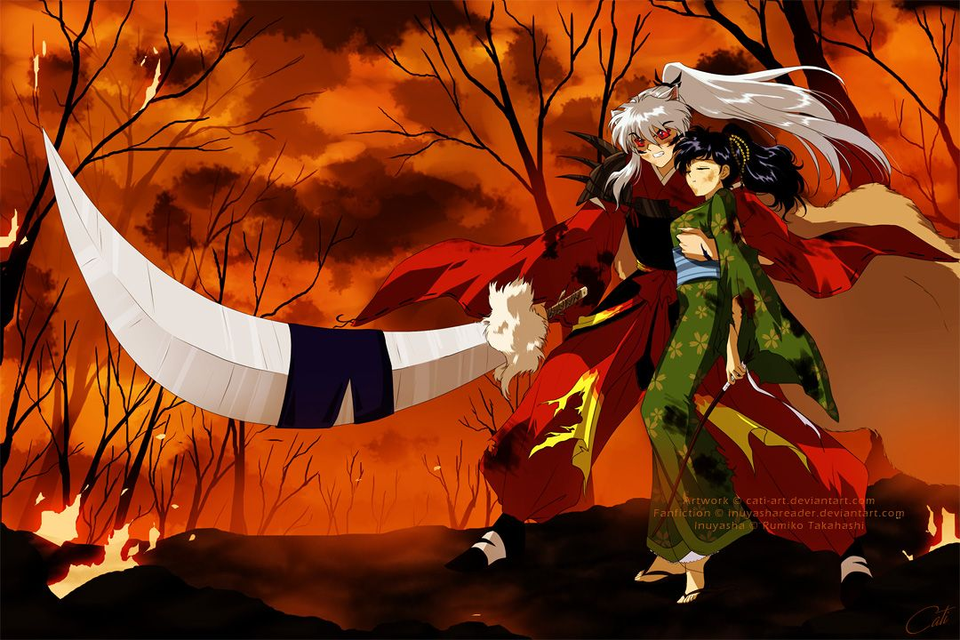 Commission - Inuyasha and Kagome by Cati-Art on deviantART