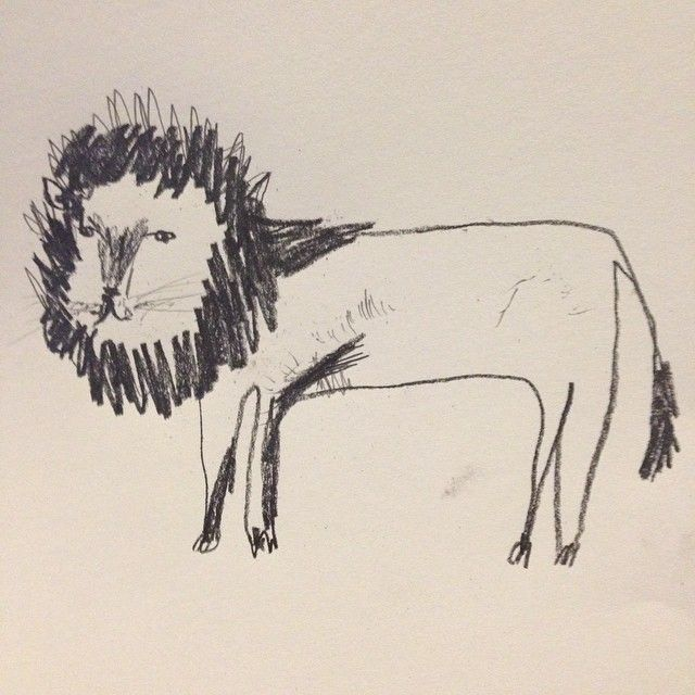 fayemoorhouse lion handrawn