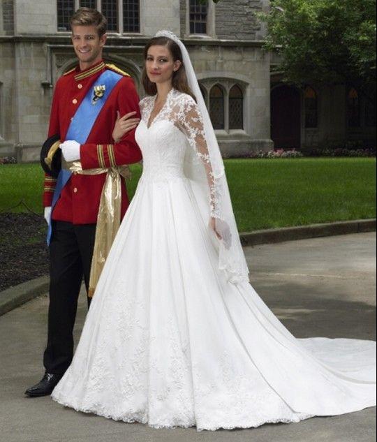 buy elegant popular a line long sleeve lace satin sweep train wedding dress online cheap
