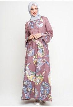 Wanita Baju Muslim Dress Muslim Gamis Madania Batik Muslim