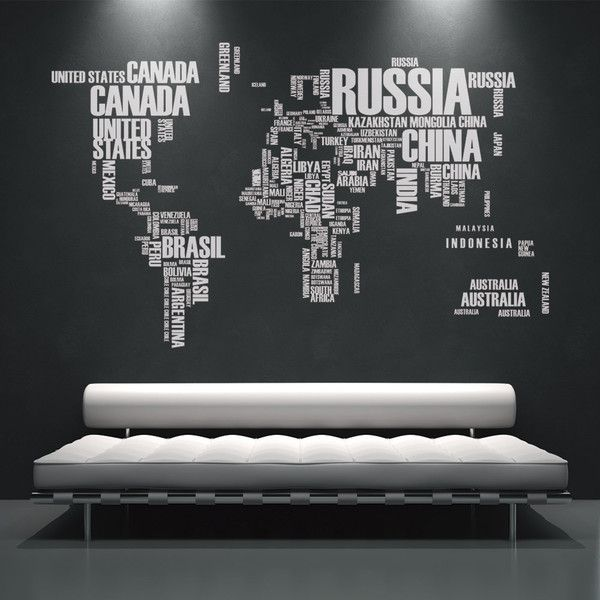 World map country names text typography stickers home and office world map country names text typography stickers home and office decor 200 liked gumiabroncs Image collections