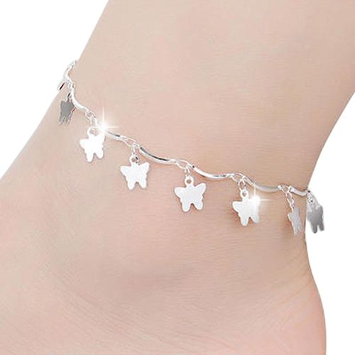 popular silver beads anklets platinum women box plated anklet online p