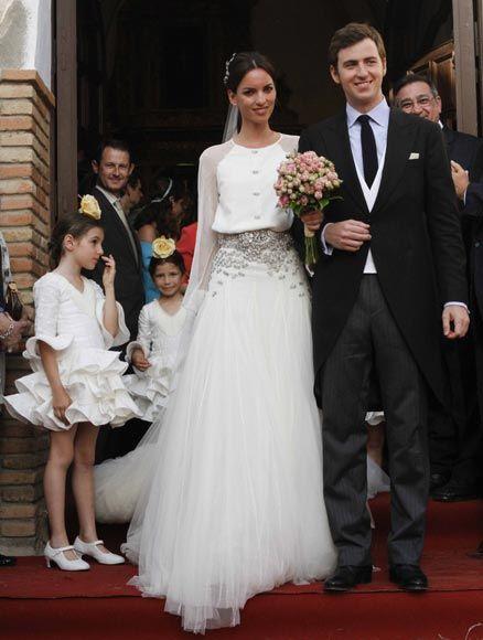 la boda de mercedes peralta | vestidos de novia | pinterest