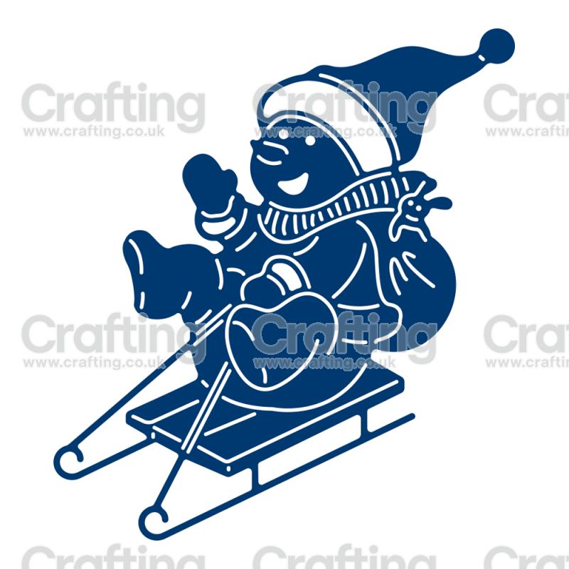 essentials by tattered lace snowman sledging plotter pinterest weihnachten basteln mit. Black Bedroom Furniture Sets. Home Design Ideas