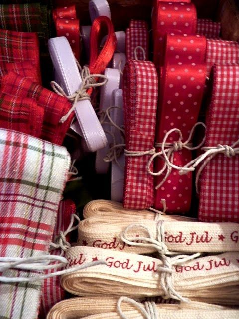 "I'm all ready for my Christmas wrapping - I would love that ""God Jul"" ribbon!"