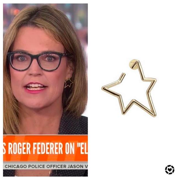 Savannah Guthrie S Star Earring Star Earrings Savannah Guthrie Savannah Chat