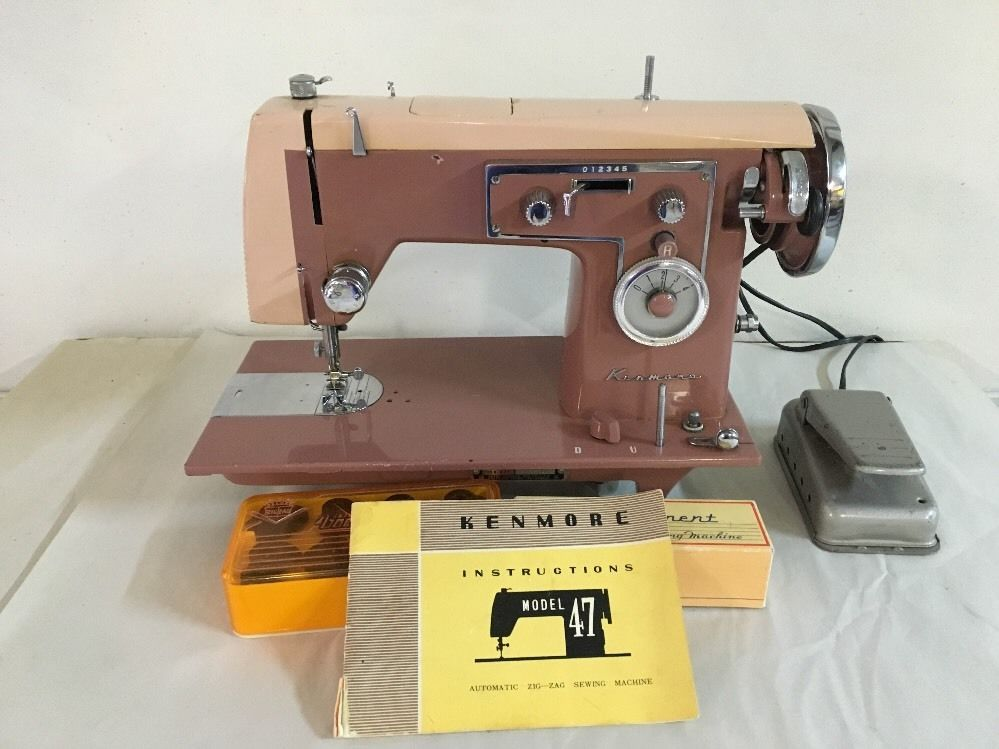 Vintage Pink Kenmore Model 40 Automatic ZigZag Sewing Machine Inspiration Totally Me Zigzag Singer Sewing Machine Set