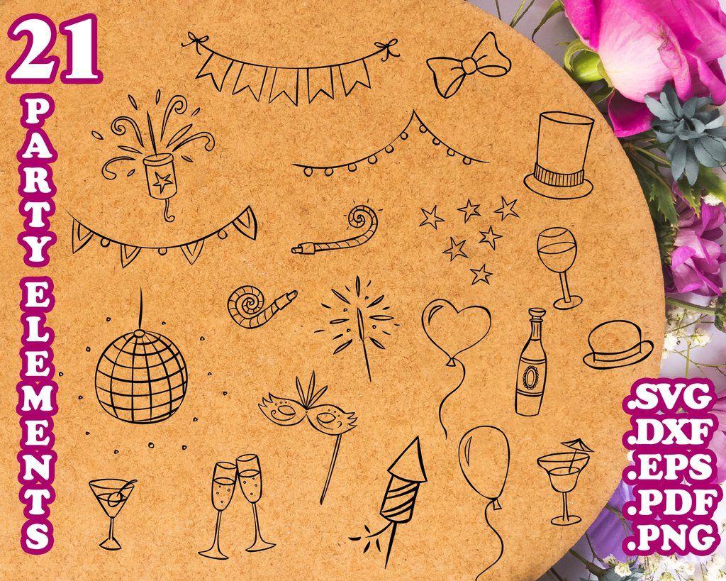 Party Elements Svg Decorative Elements Svg Files Grunge Svg Swirl Svg Flourish Svg Svg Files For Cricut Silhouette Border Svg Floral Svg Ornament Svg In 2020 Svg Files For Cricut Svg Swirls