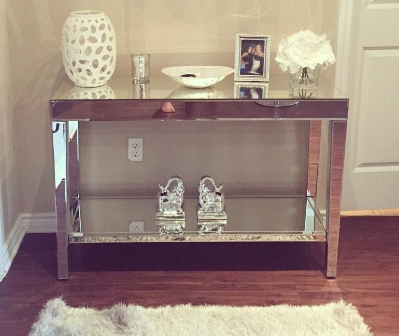 Mirrored Console Table Target Julian Miles Mirrored Console