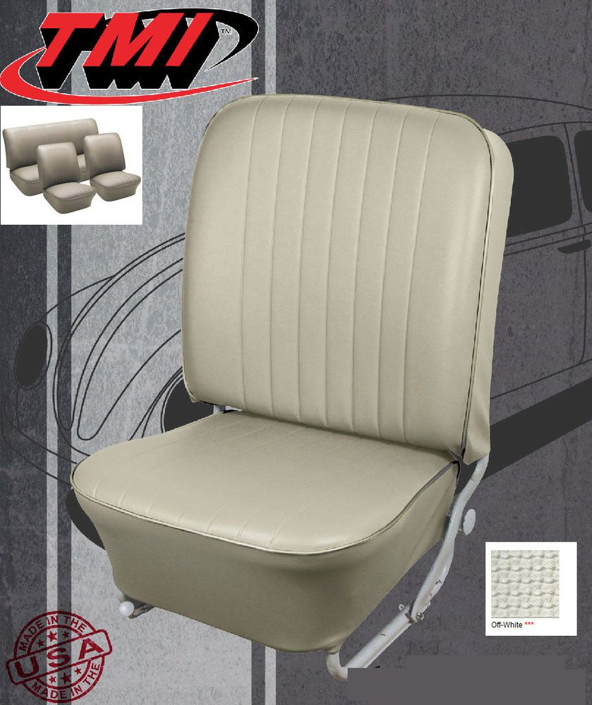 Vw Beetle Tmi Vw Seat Upholstery 1966 68 Bug Front Rear Off White 43 1124 05 Vw Beetles