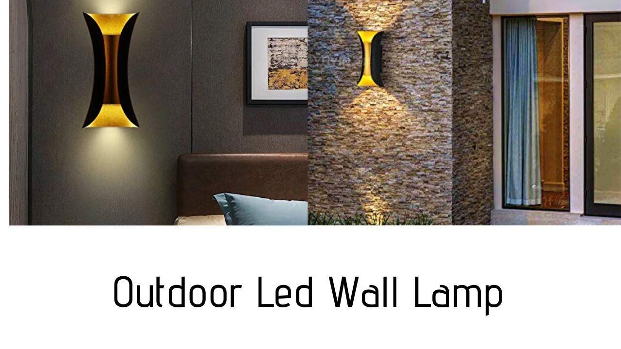 Smartway 10w Golden Led Wall Lamp Waterproof Ip65 Indoor Outdoor Warm White Led Wall Lamp Wall Lamp Outdoor Wall Lamps