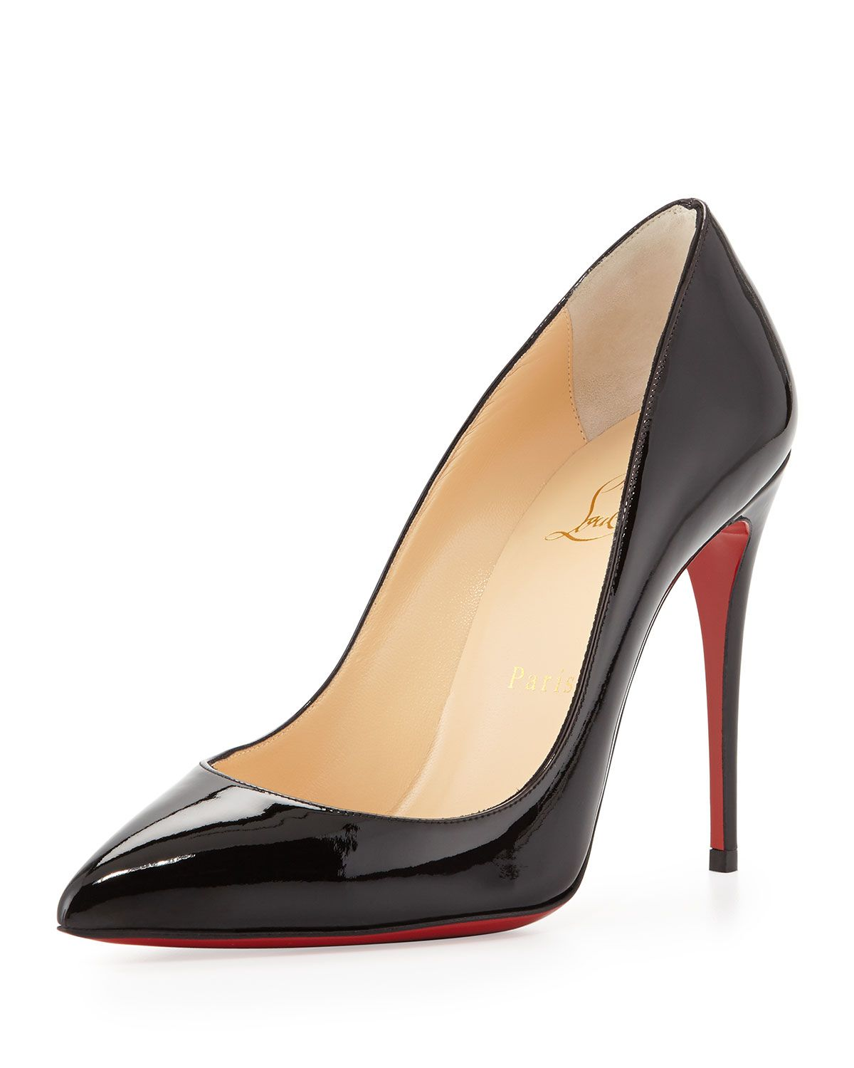 sports shoes 5427b 11621 Pigalle Follies Point-Toe Red Sole Pump Black | Christain ...
