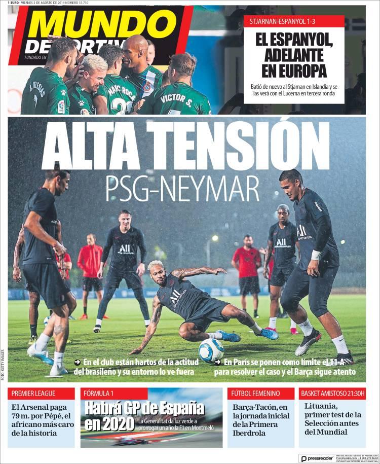 20190802 Periódico El Mundo Deportivo (España