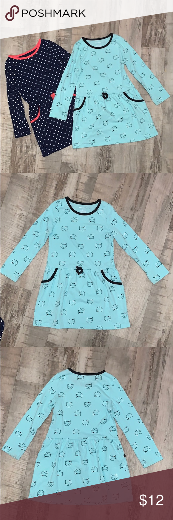 2 Healthtex Long Sleeve Dresses Size 5t Dresses With Sleeves Long Sleeve Dress Clothes Design [ 1740 x 580 Pixel ]