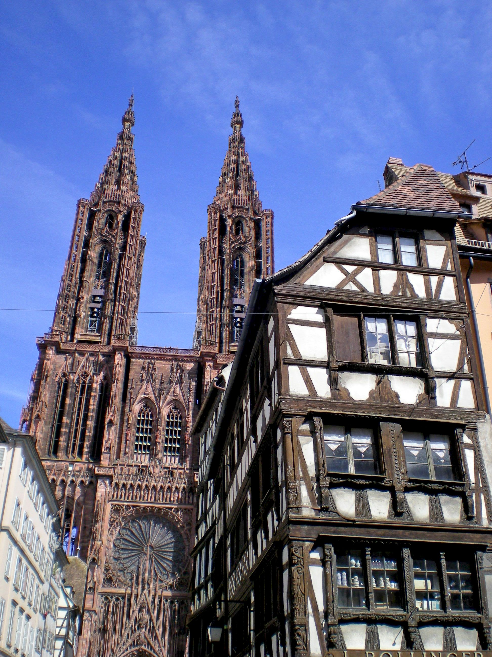 The twin towers of Strasbourg Cathedral 1st April Les deux