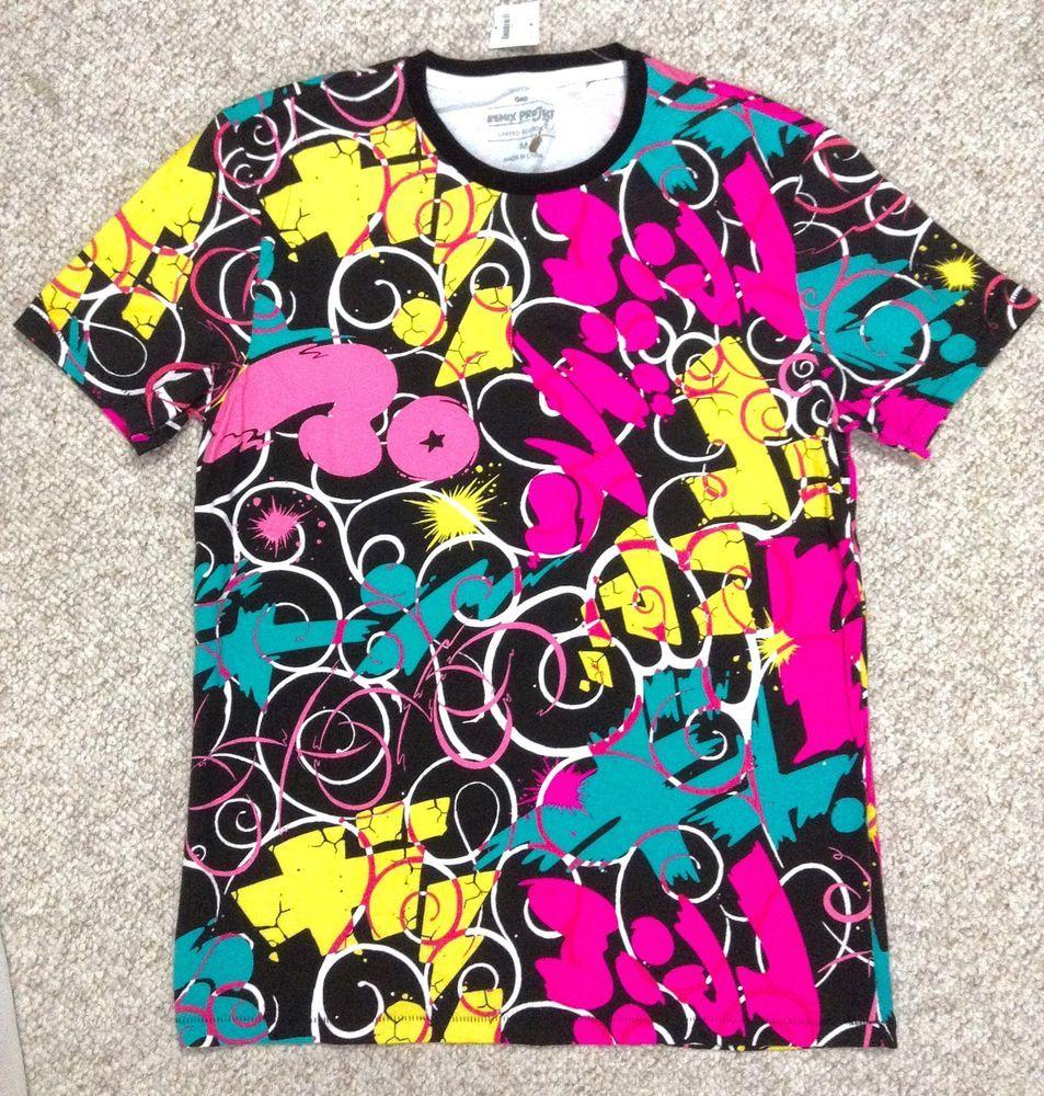 ltd gap brand remix project t shirt multi color japan pop art