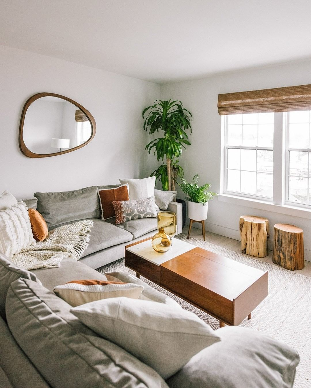 West Elm On Instagram Natural Hues Waterfront Views See How Westelmscarsdale S Designcrew Used A Harmo Home Decor Living Decor Living Room Spaces