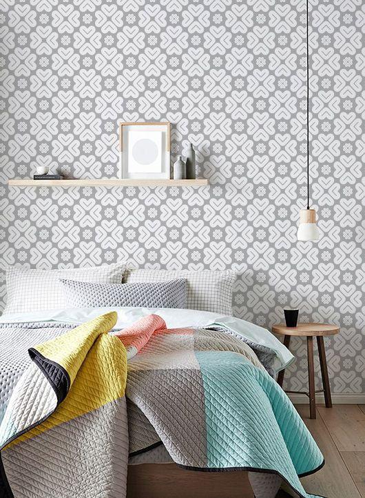 Self Adhesive Peel And Stick Vinyl Wallpaper Wall Sticker Geometric Flower Print Wallpaper Wallpaper Walls Decor Wall Stickers Geometric Wall Decor Stickers