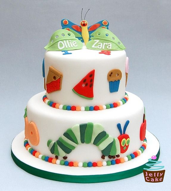 Very Hungry Caterpillar Cake ~ LOVE