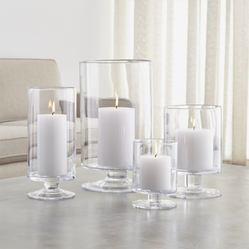 London Glass Hurricane Candle Holders Crate And Barrel Glass Hurricane Candle Holder Hurricane Candles Hurricane Candle Holders