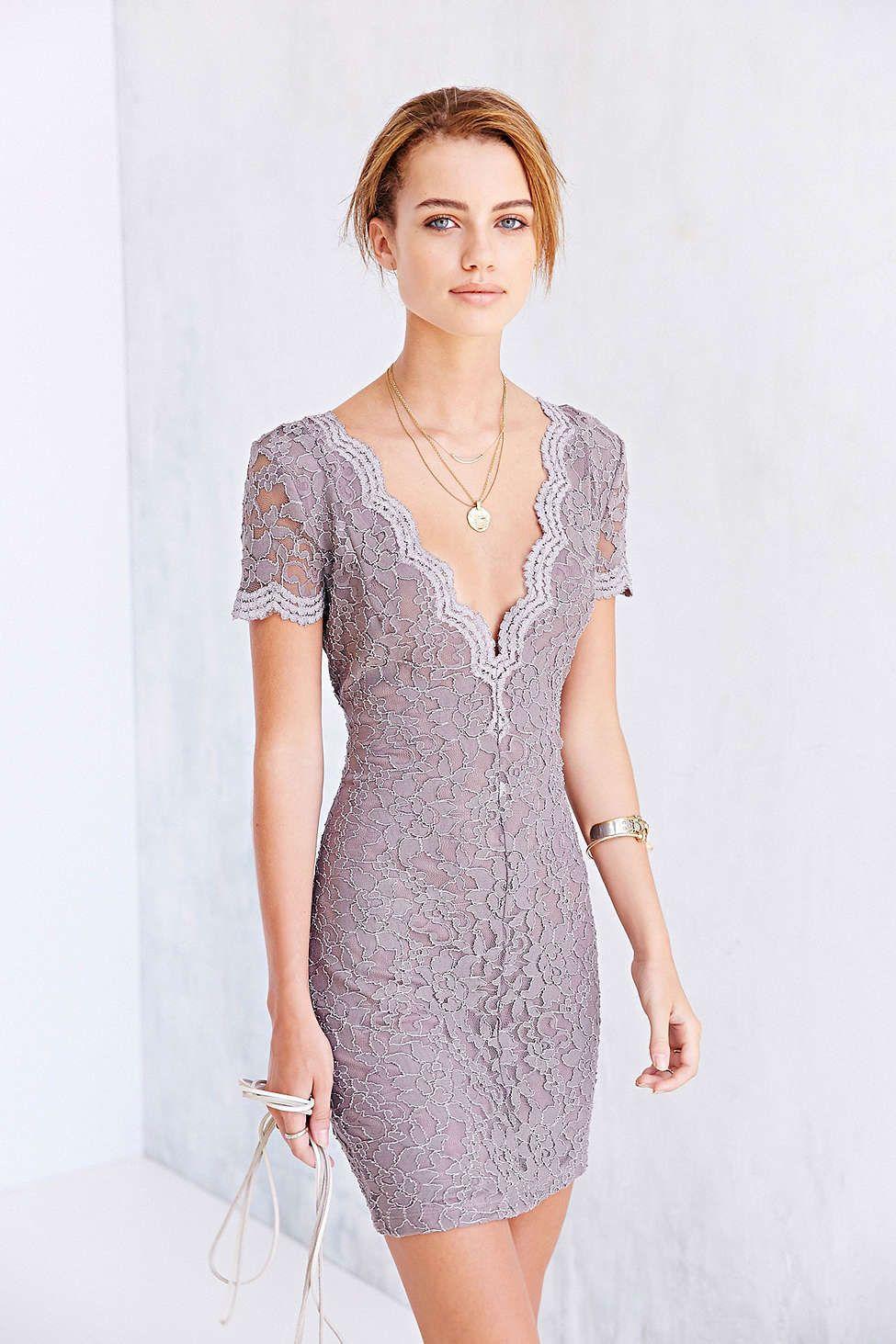 430ca589dbdc Kimchi Blue Scallop Lace Bodycon Dress - Urban Outfitters