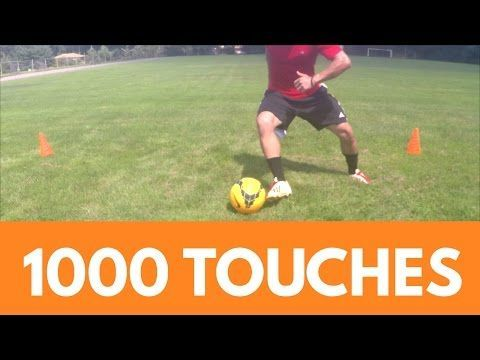 Soccer Drills 1000 Touches Workout Dribbling Session Youtube Soccer Drills Soccer Workouts Soccer Drills For Kids